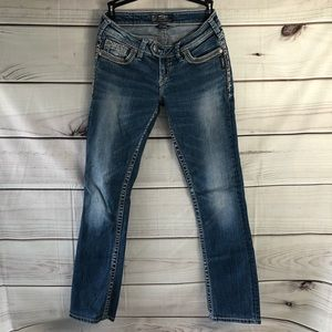 Silver Tuesday Baby Boot White Wash Jeans 26/33
